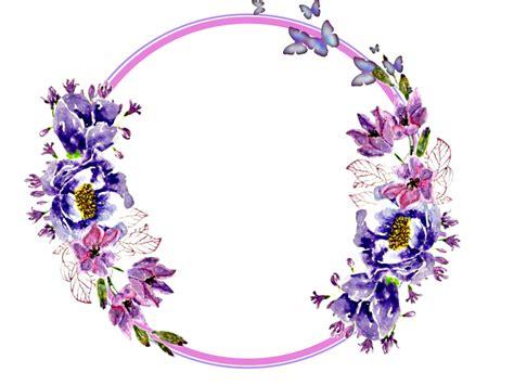 flowers circle stickers garland wreaths