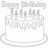 Birthday Coloring Cake Candles sketch template