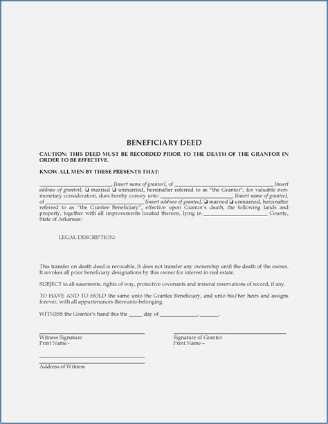 beneficiary deed form arizona form resume examples
