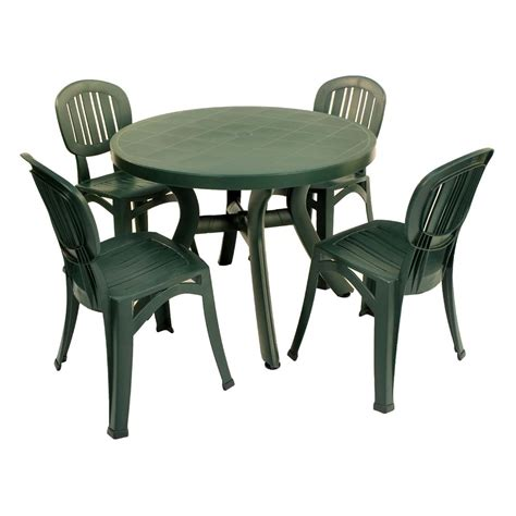 green resin patio table and chairs toscana 100 table plain green europa leisure uk