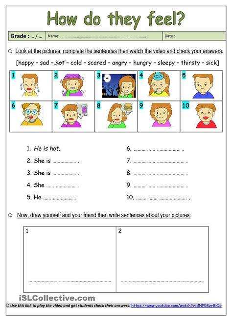 feelings feelings  emotions english worksheets