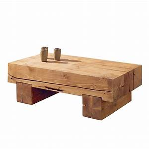 Table Basse Pin Massif : table basse poutre en pin massif aux lignes pur es ~ Teatrodelosmanantiales.com Idées de Décoration