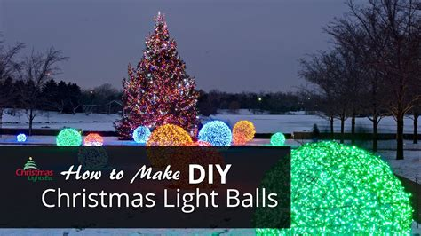 how to make christmas light balls doovi