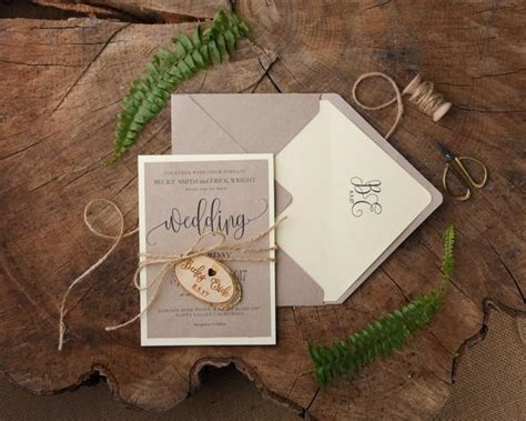 rustic wedding invitations 20 engraved wedding