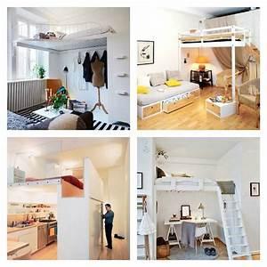 Lit Bébé Petit Espace : lit mezzanine adulte et am nagement de petits espaces ~ Melissatoandfro.com Idées de Décoration