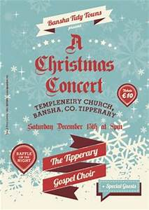 1000 images about Christmas Concert Poster Art on