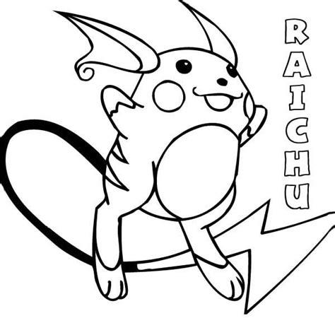 Kleurplaat Raichu by Raichu Coloring Page Color
