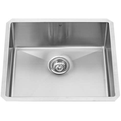stainless steel single bowl undermount kitchen sink vigo undermount stainless steel 23 in single bowl kitchen
