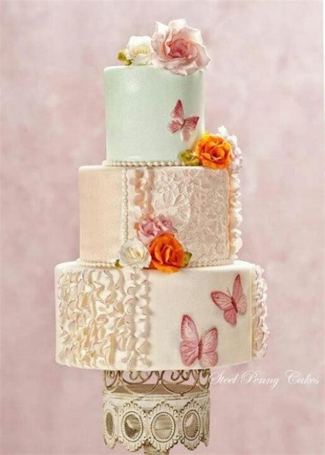 shabby chic themed wedding cake shabby wedding shabby chic wedding cakes 2032822 weddbook