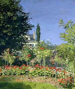 Claude Monet Flowering Garden at Sainte-Adresse painting ...