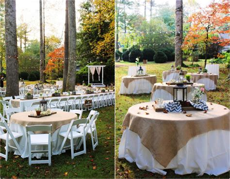 wedding table decorations for outside rustic wedding reception table settings