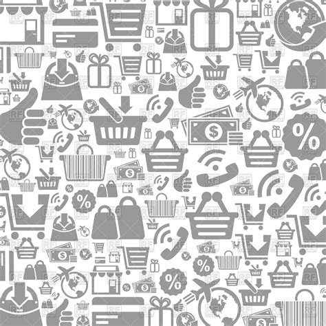 background   shop icons vector image  backgrounds