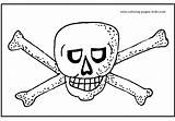 Coloring Pirate Printable Flag Flags sketch template