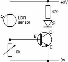 electronics club transistor circuits functional model With ldr sensor circuit