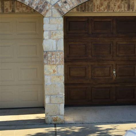 Finally re did my garage doors with antique walnut gel