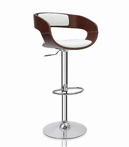 Tabouret De Bar Cuir : tabouret de bar design en similicuir marron et blanc ~ Dailycaller-alerts.com Idées de Décoration