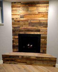 simple fireplace decoration with reclaimed wood paneling With barnwood tv wall