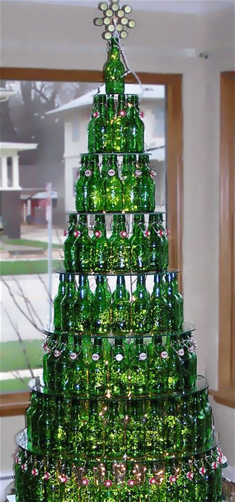 christmas trees made of bottles green bottles recycled into beautiful form and function homejelly