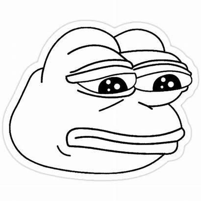 Pepe Frog Meme Sad Drawing Transparent Coloring