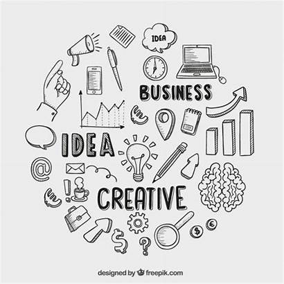 Drawing Business Freepik Sketch Icon Hand Drawn