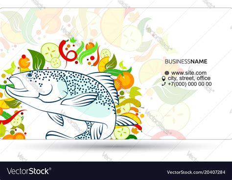 fish business card vector  premium vector