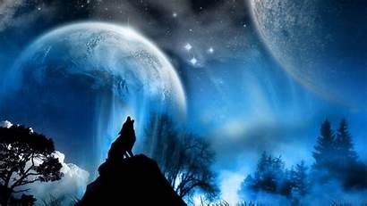 Wolf Wallpapers Moon Howling Desktop Wolves Howl