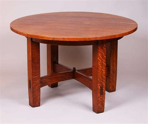 gustav stickley  fixed top dining table california