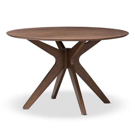 baxton studio monte mid century modern walnut wood 47 inch