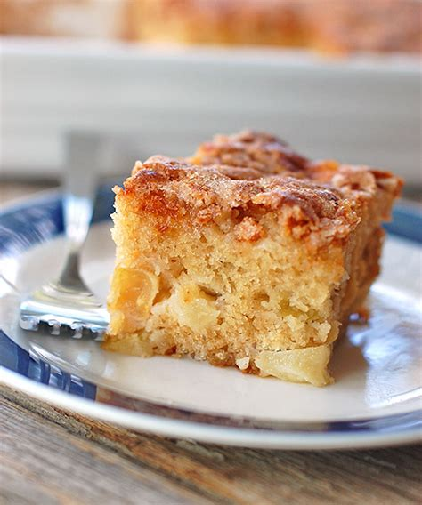 cinnamon sugar apple cake recipe pinch  yum