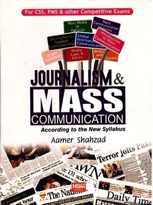 Journalism Books by Journalism Mass Communication By Aamer Shahzad Hsm