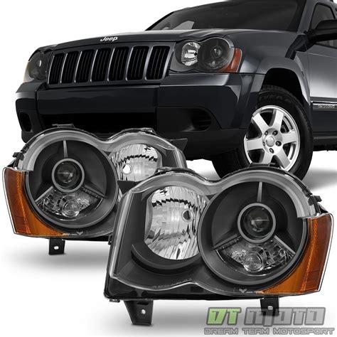 Black 2008 2010 Jeep Grand Cherokee Projector Headlights
