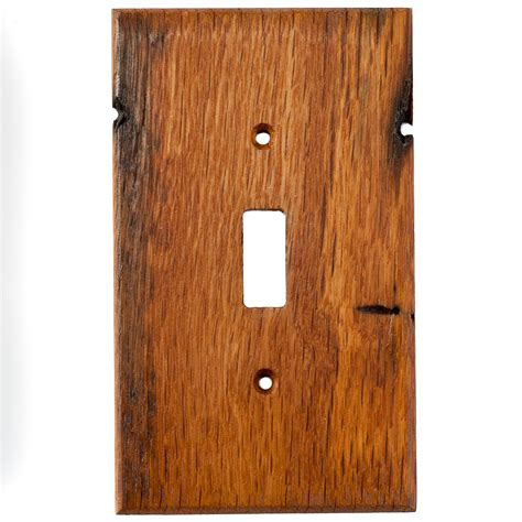 oak reclaimed wood wall plates 1 light switch cover