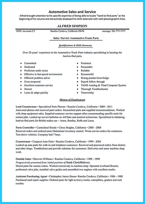 Free Resume Sles by Writing A Clear Auto Sales Resume