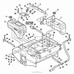 Bunton  Bobcat  Ryan 942206 Zt 200 23hp Kaw W  61 Side Discharge Parts Diagram For Fuel Tanks