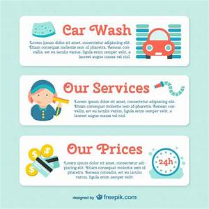 car wash banner template vector free download With car wash coupon template