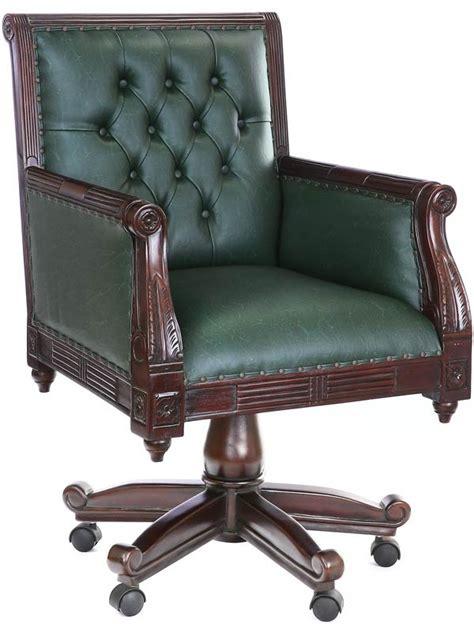 chaise de bureau chesterfield fauteuil de bureau en acajou massif et capitonn