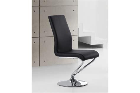 chaise de cuisine pivotante chaise design turn assise pivotante blanc noir chaises