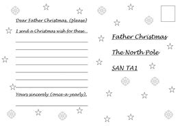 dear father christmas letter writing frame rhyming