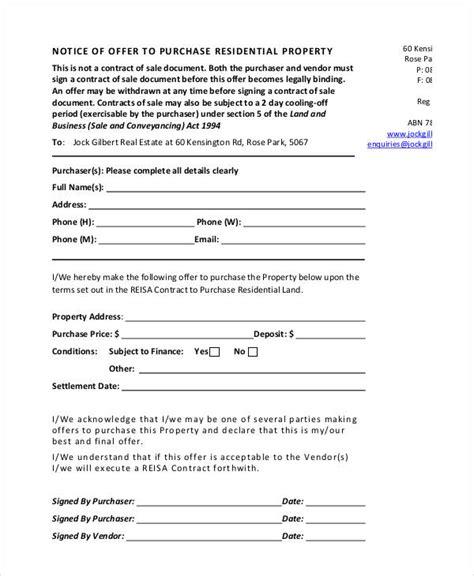 Bid Buy Offer Letter To Buy A House Template Viskyz