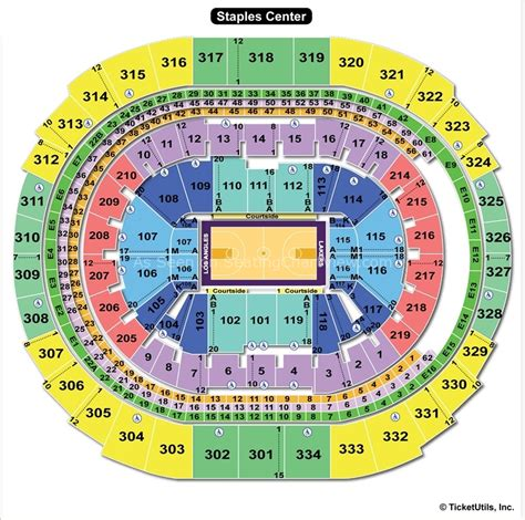 Staples Center Clippers Seatingchart Cliparts