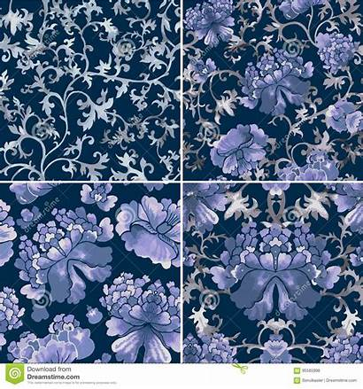 Chinese Pattern Ornament Floral Seamless Patterns Watercolor