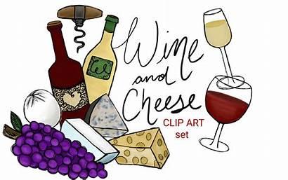Cheese Wine Clip Clipart Drawn Hand Stars