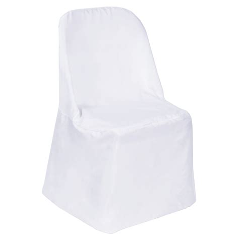 150 polyester folding flat chair cover wedding trade show