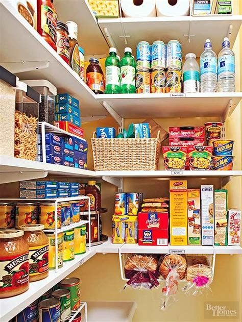 kitchen storage items organize your pantry by zones better homes gardens 3157