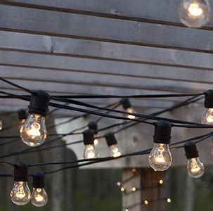 15 socket outdoor led light set with 31 black cord
