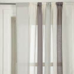 buy john lewis metallic broad stripe slot top voile panel