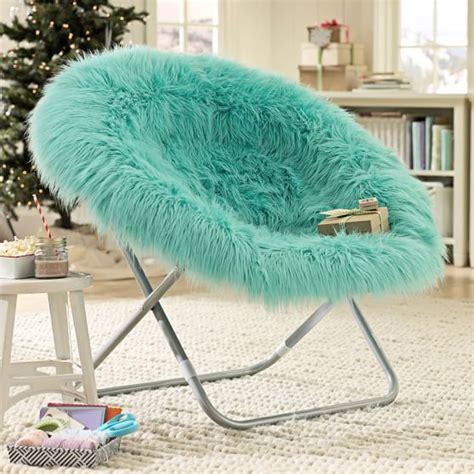 pool fur rific faux fur hang a chair pbteen