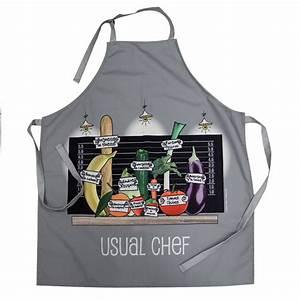 Tablier De Cuisine Femme : tablier de cuisine humoristique pour homme et femme ~ Teatrodelosmanantiales.com Idées de Décoration