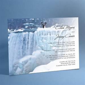 waterfall wedding invitation suite frozen waterfalls With niagara falls wedding invitations