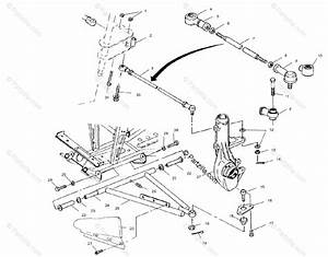 Polaris Atv 2000 Oem Parts Diagram For Aarm  Strut Mounting